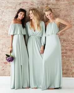 Martha Stewart Weddings - Make a fresh statement with these bridesmaid gowns by twobirds – perfect for the modern bride and her bridesmaids.