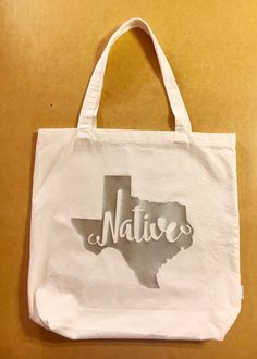 Texas Native Tote Bag by HodgepodgeCraftsRS on Etsy