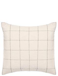 "Grid Stitch Pillow, 18"""