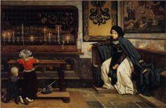 Marguerite in Church - James Tissot, c.1860, 002/450.