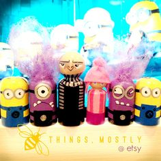 Some Despicable Peg Doll People - Stocking Stuffer! Minions - esque, Edith -like, Gru - Inspired ;) - sold as individuals