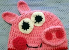 0b63e93ffc8 Between doing and learn this beautiful cap of Peppa pig! ~ CROCHET STITCHES