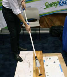 The Sweep-Easy isn't just a standard broom. Push the handle in and twist it to reveal any number of handy cleaning attachments. Diy Cleaning Products, Cleaning Solutions, Cleaning Hacks, Grill Brush, Clean Sweep, Window Cleaner, Green Cleaning, Organization Hacks, Housekeeping