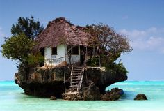 This is an actual restaurant on Zanzibar, called the Rock Restaurant