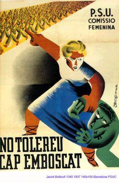 Jacint Bofarull Frente Popular, Spanish Posters, Propaganda Art, Party Poster, Revolutionaries, Vintage Ads, Civilization, Graphic Illustration, Wwii