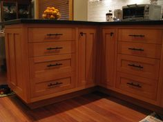 Lovely Vertical Grain Douglas Fir Cabinets
