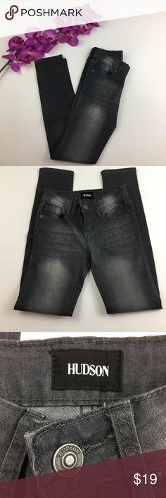Girls Hudson Gray Skinny Jean Girls Hudson Gray Skinny Jean Hudson Jeans Bottoms Jeans