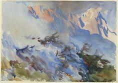 John Singer Sargent, Mountain Fire (1906-7)