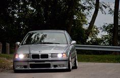 Silver BMW e36 sedan on BMW Styling 5 (BBS RC) wheels