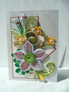 Quilled Flower Birthday Card