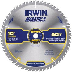 Irwin Marathon Miter/Table Saw Blade, Multicolor