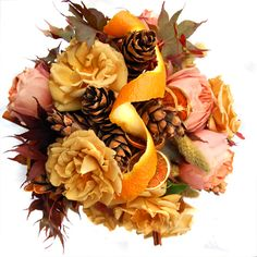 fall color palettes for weddings   ... . Very nice fall wedding bouquet for the bride with a fall palette