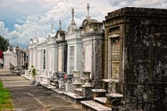Above Ground Vaults at St. Louis Cemetery No. 1 in New Orleans LA