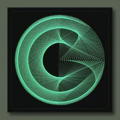 Wall Decor 3D Modern Abstract String Art Black by FeniksArtDeco
