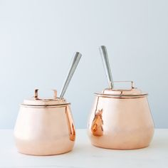 Vintage Copper English Pot-Bellied Saucepan, Mid 19th Century on Food52