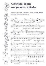 Výsledek obrázku pro písničky pro děti noty