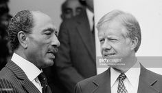 Anwar El Sadat and  Jimmy Carter at White House, to sign the 1979 Egypt–Israel Peace Treaty