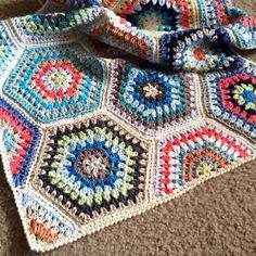 BabyLove Brand Painted Hexagons Blanket by BabyLoveBrandKids