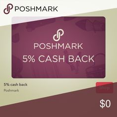 Get 5% back off your Posh purchase! Not only do you get a bundle discount and personalized discount, but for a limited time only, you can use Ibotta to get 5% on your purchases using Ibotta! I thought I'd share!                                                      If you are new, use my referral code to sign up and automatically get five dollars! You can sign up with my code [cigajba] here: https://ibotta.com/r/cigajba Ibotta Accessories
