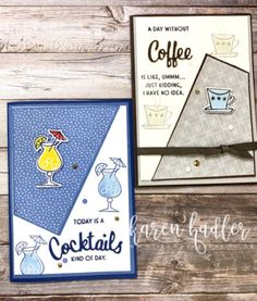 Nothing is Better Than Coffee, Cocktails and Foam Adhesive. - Stamping Bees Coffee Cocktails, Fun Cocktails, Drinks, Chocolate Wine, Hand Stamped Cards, Love You More Than, Stamping Up, Flower Cards, Birthday