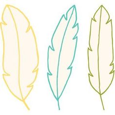 Silhouette Design Store - New Designs Diy Craft Projects, Diy And Crafts, Crafts For Kids, Arts And Crafts, Paper Crafts, Feather Template, Feather Drawing, Feather Clip Art, Paper Feathers
