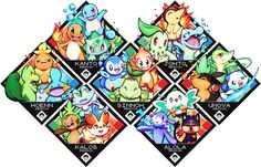 Last one! Kalos starter pokemon. You can see more starters from the other regions here: ======================================== Currently selling sets of my Major Arcana project:    [OPE...