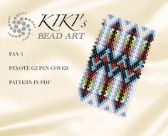 This is an own designed pen cover/ pen wrap pattern using even single drop peyote technique. This wrap/cover fits for G2 pens by Pilot. A pen with this cover can be a perfect personalized gift for a friend or a colleague. I use size 11 Japanese Miyuki Delica seed beads for my designs. This pattern is in PDF format, downloadable directly from ETSY. Please note that my patterns do not include instructions for how to do the peyote stitch. The pdf file includes: 1. a large picture of t...