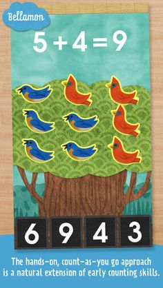 Come learn arithmetic with The Math Tree! Add and subtract bluebirds, doves, plums, peaches and more in this captivating introduction to addition, subtraction, and numerical equations. The hands-on, count-as-you go approach is a natural extension of early counting skills, presented with powerful simplicity. Incredibly cute graphics and melodious sounds make this app a genuine pleasure for parents and kids alike. #ComboApp #Choice