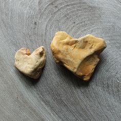 heart shaped stones