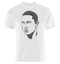 Eminem typographic illustrated design by Sean Williams    Shirts are made from 100% combed ring-spun cotton    Products are shipped within 5-10 business