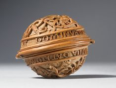 Boxwood Carved Rosary Gaud or Nut. c.1480-1530.