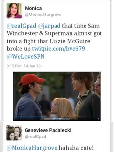 Sam Winchester vs. Superman + Gen's reply to the Tweet. <3 #SuperanturalCast