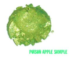 SAMPLE Poison Apple Green Loose Powder Mineral by MadeByMandikins, $1.25