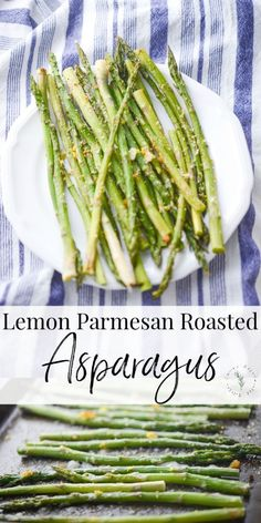 Fresh bundles of asparagus tossed with lemon zest, grated Parmesan cheese, Extra Virgin Olive Oil; then briefly roasted in the oven until al dente. Creamed Asparagus, Oven Roasted Asparagus, Asparagus Recipe, Roasted Vegetables, Grilled Veggies, Lemon Recipes, Low Carb Recipes, Healthy Recipes, Delicious Recipes