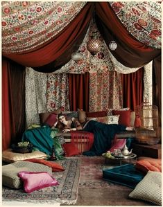 Beautifully bohemian in burgandy.