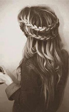 Waterfall braid and beach waves