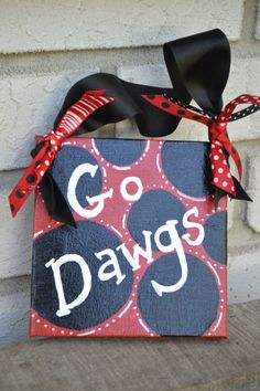 University of Georgia Go Dawgs Canvas by YallComeBackDecor on Etsy, $12.00