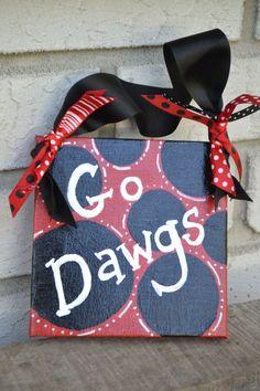 "University of Georgia ""Go Dawgs"" Canvas"