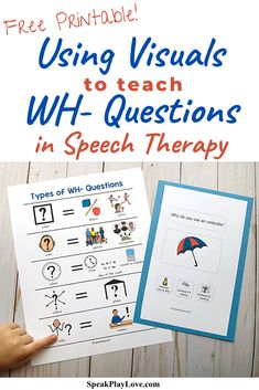 What Questions Speech Therapy, Speech Therapy Autism, Preschool Speech Therapy, Wh Questions, Speech Pathology, Speech Language Pathology, Speech And Language, Autism Classroom, Classroom Language