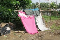 The makeshift shelter Evangeline and her two daughters were sleeping in before they were given a ShelterBox tent, Philippines, September Two Daughters, Philippines, Shelter, Tent, September, Bring It On, Ideas, Store, Tents