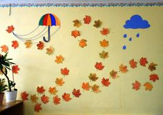 Classroom Decor, Contemporary, Home Decor, Leaves, October, Kids, School Room Decorations, Interior Design, Classroom Displays