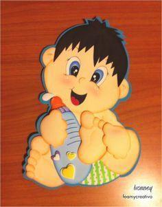 Cartel bebe niño en foami, foamycreativo