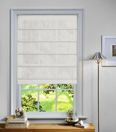 sheer Roman shades-- privacy without losing light