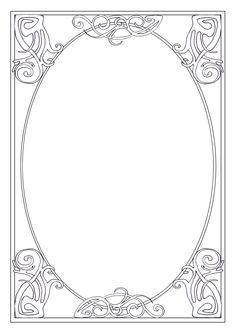 Nouveau Corners 06 Frame by Tigers-stock on DeviantArt Art Deco Borders, Borders For Paper, Borders And Frames, Motifs Art Nouveau, Art Nouveau Design, Draw Character, Fantasy Sketch, Jugendstil Design, Ideias Diy