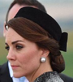 Black Velvet Pillbox Hat with netted chignon at nape. Classic styling. #judithm
