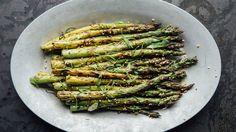 Ginger-Miso Grilled Asparagus Recipe | Bon Appetit