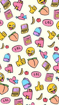 Emoji Wallpaper, Kawaii Wallpaper, Pastel Wallpaper, Tumblr Wallpaper, Love Wallpaper, Screen Wallpaper, Panda Wallpapers, Cute Wallpapers, Vintage Flowers Wallpaper