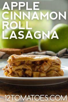Corn Recipes, Fruit Recipes, Apple Recipes, Brunch Recipes, Dessert Recipes, Cooking Recipes, Cinnamon Roll Apple Pie, Cinnamon Apples, Desert Recipes