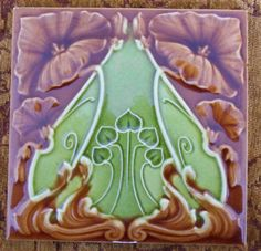Good early English Art Nouveau design from J.H. Barratt c1903, number 463 in the book Art Nouveau Tiles with Style.