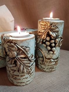 Paris Crafts, Reuse Plastic Bottles, Baptism Candle, Plaster Art, Jar Art, Candle Craft, Unique Candles, Candle Molds, Clay Design